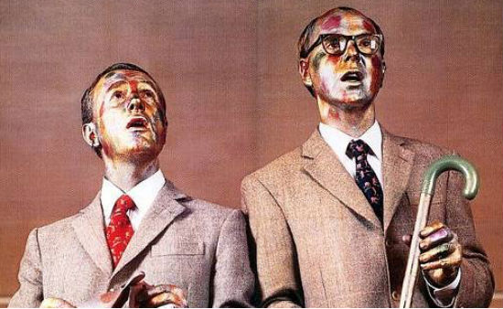 The Ten Commandments according to Gilbert & George