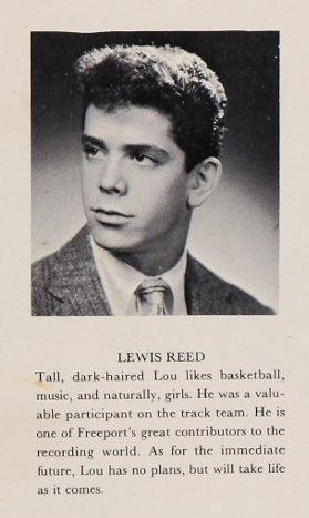 Lou Reed's high school yearbook photo