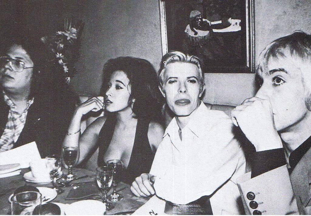 Bowie after show party
