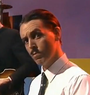 Paul McCartney spoofs Ron Mael of Sparks, 1980