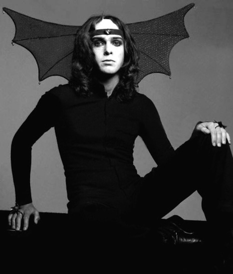Peter Gabriel in costume as
