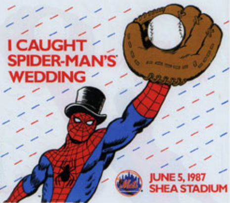 'I thee web': Spider-Man and Mary Jane get married at Shea Stadium, 1987