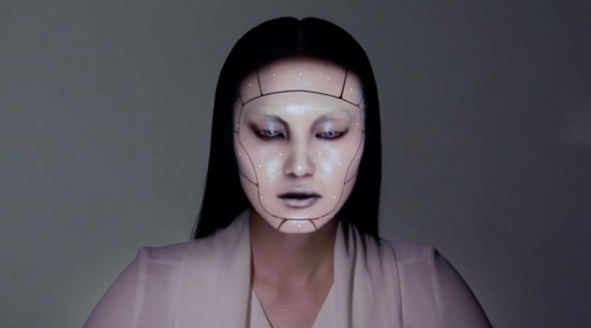 Watch incredible 'electronic makeup' change and transform human face