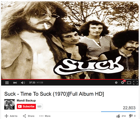 Suck Band Youtube