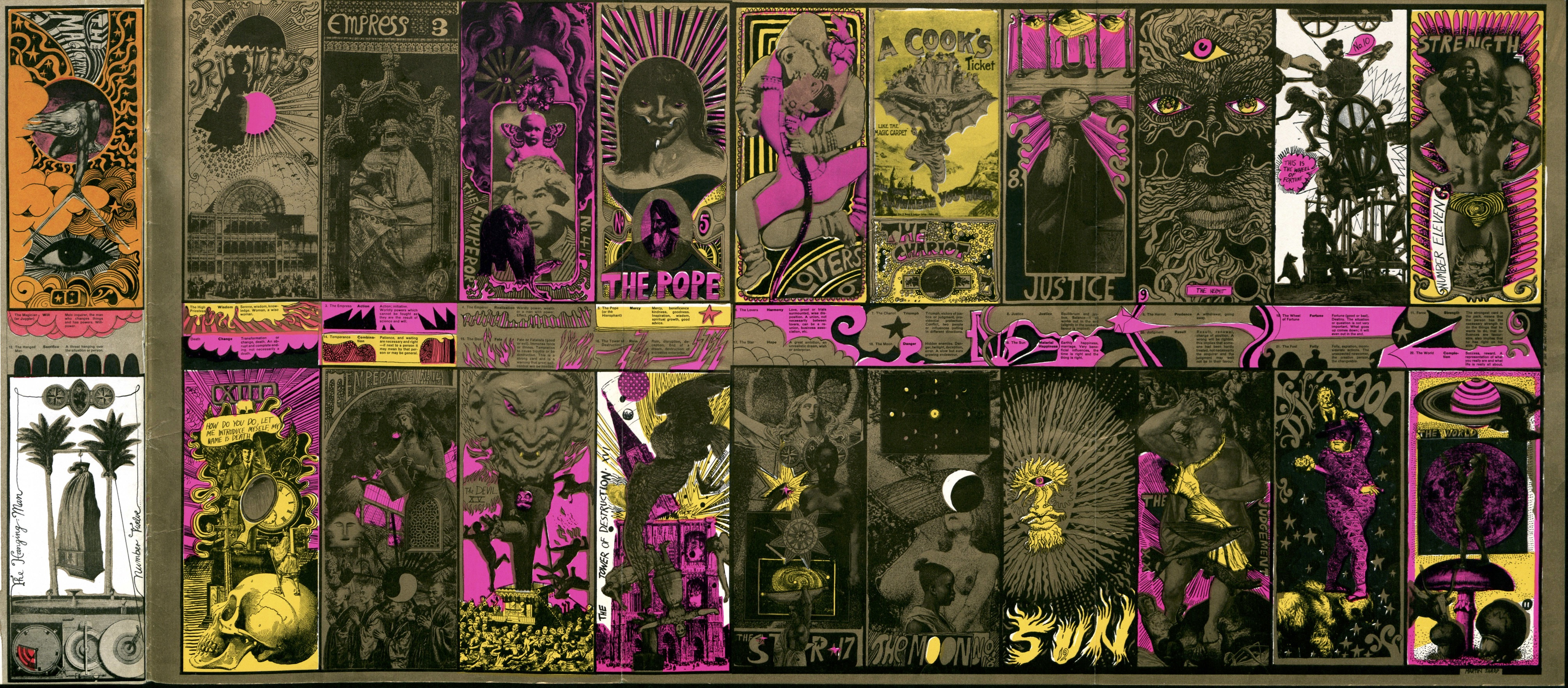 Martin Sharp's psychedelic tarot cards from 1967 | Dangerous