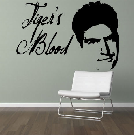 Charlie Sheen wall art