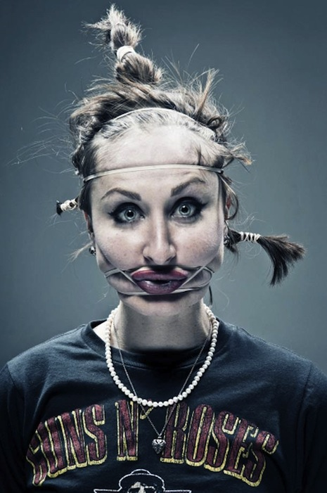 'Rubber Band Portraits' are strange, disturbing, surprising, hilarious