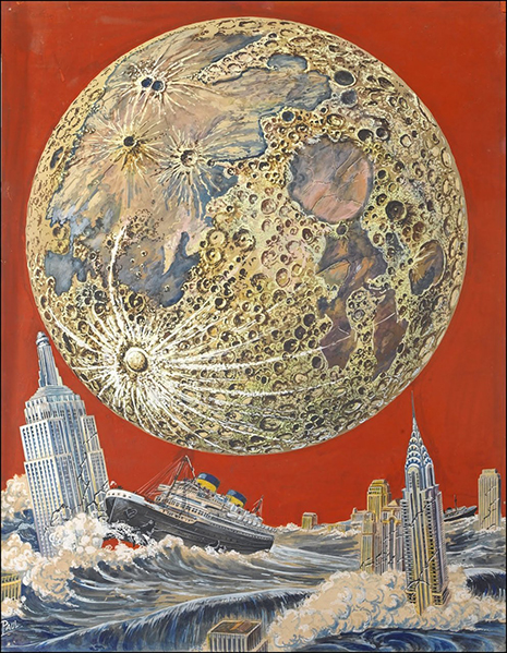 Wonder Stories Cover, February, 1933 Frank R. Paul