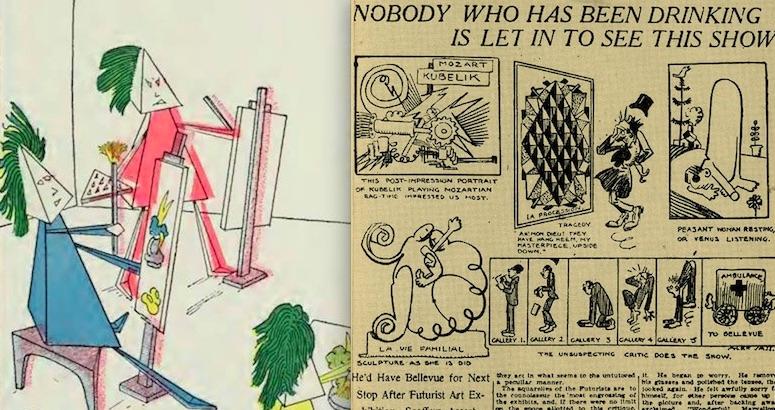 Meet the Cubies: Modern Art spoof from 1913