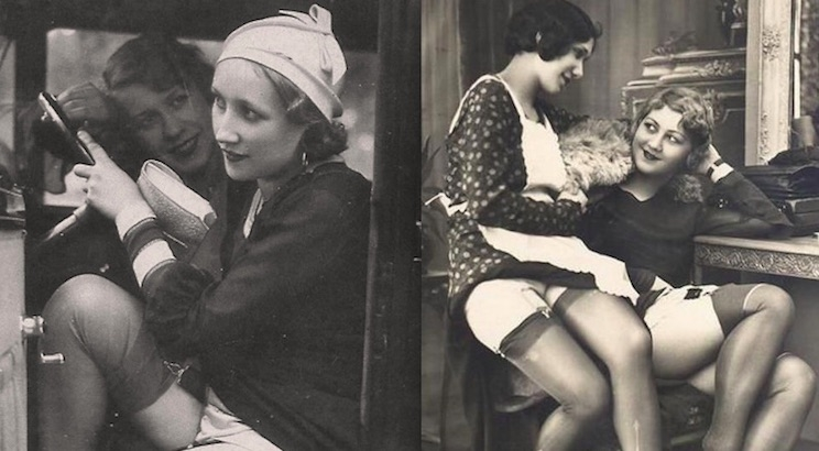 When a glimpse of stocking was something shocking: Vintage erotic postcards of 1920's flappers