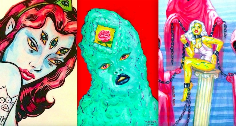 Sex Goddesses & Bad-Ass Babes from Outer Space: The gorgeous, pulpy art of Penelope Gazin (NSFW)