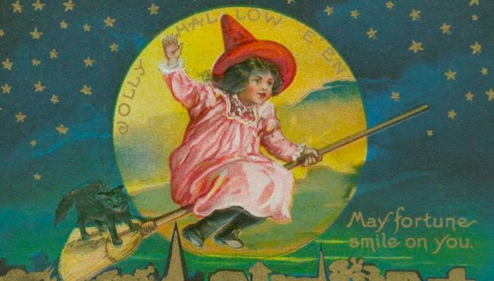 Quaintly amusing vintage Halloween greeting cards