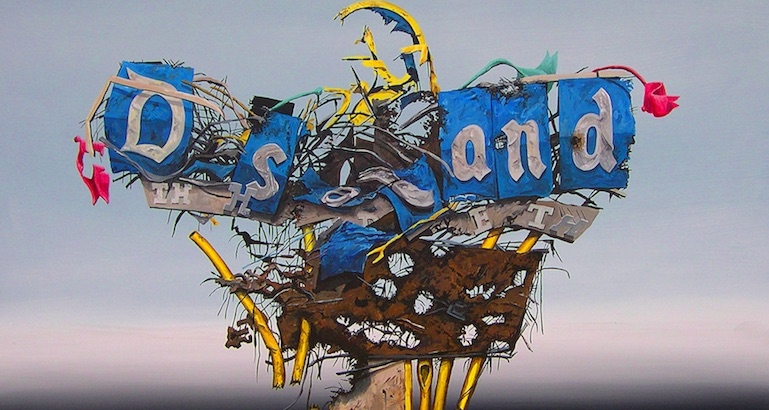 Slumscapes: Post-apocalyptic paintings of a devastated Disneyland