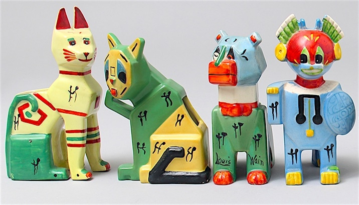 Forget Louis Wain's psychedelic cats, here are his crazy Cubist ceramics