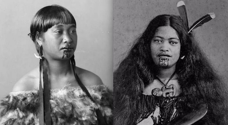 Beautiful vintage portraits of the last of the traditionally tattooed Māori women
