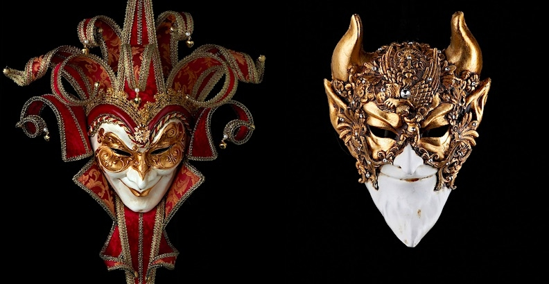 Beautiful handmade Venetian carnival masks