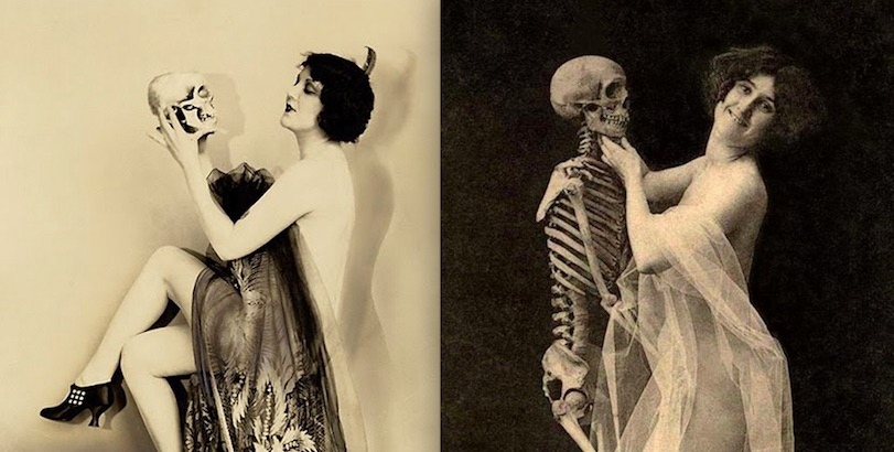 Dancing with death: Vintage erotica featuring women cavorting with skeletons