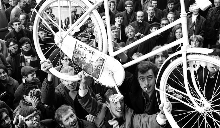 The whimsical anarchism of the White Bicycle revolution