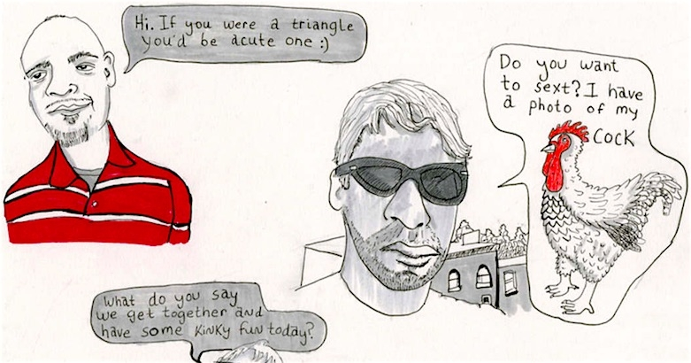 'Sit on my face': Artist illustrates her experiences on Tinder