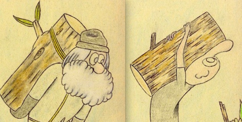 Tree F*ckers: Frédéric Fleury's comic art of men with a passion for wood (NSFW)