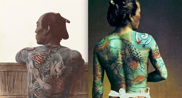 Yakuza: Beautiful hand-painted vintage portraits of tattooed Japanese gangsters