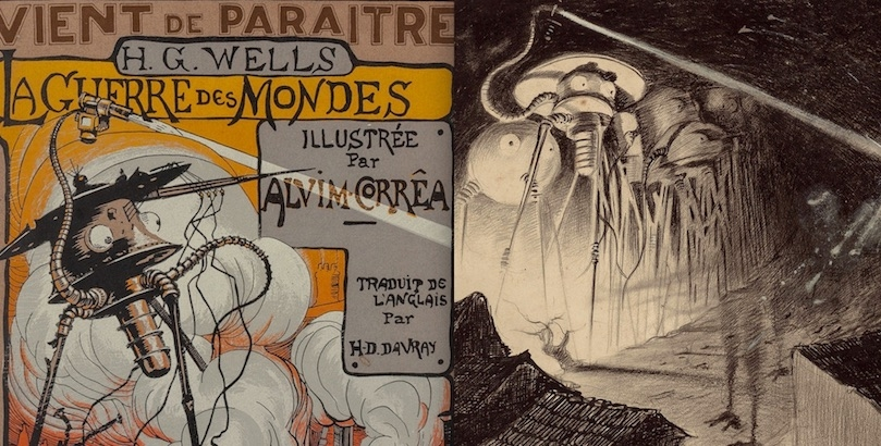 Science fiction in its infancy: Fantastic illustrations for 'The War of the Worlds' from 1906