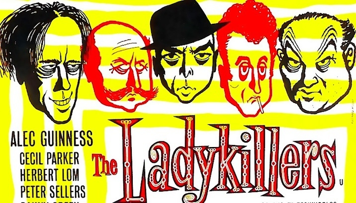 On location with Alec Guinness and Peter Sellers in 'The Ladykillers'
