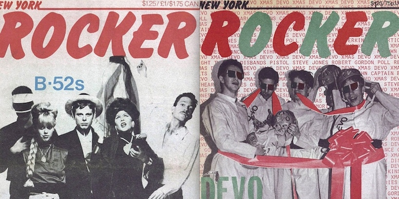 A Covers Album: Front covers of New York Rocker, 1976-1982