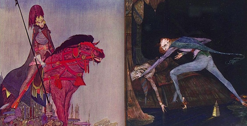 Macabre, gothic illustrations for Edgar Allan Poe's 'Tales of Mystery and Imagination'