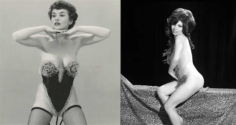 Vintage burlesque dancers and stripper portraits from the 1960s