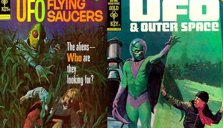 Martian chronicles: Fantastic covers for UFO comics of the 1960s & 70s