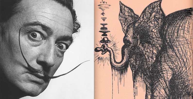 Salvador Dali's strange and surreal illustrations for the autobiography of a Broadway legend