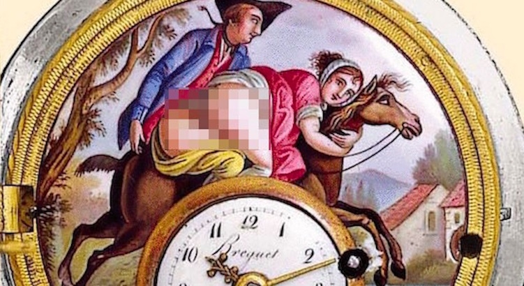 Objects of Desire: Vintage erotic pocket watches (NSFW)