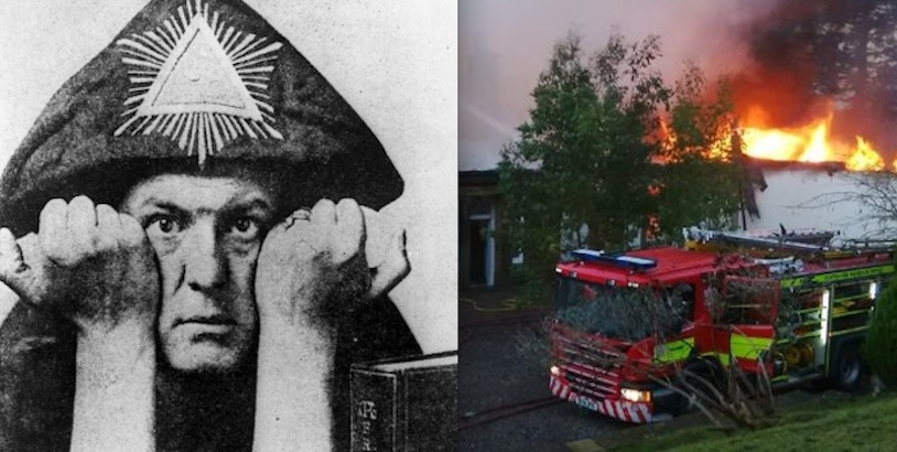 Fire destroys Aleister Crowley's former home Boleskine House