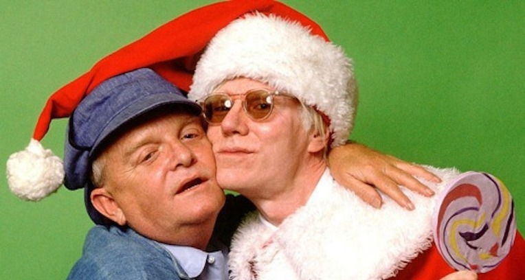 Ho ho ho! Here's Andy Warhol as Santa and Truman Capote with a lollipop on the cover of High Times