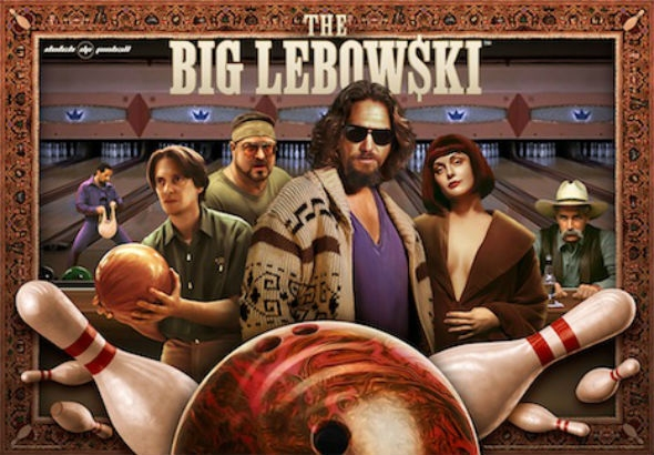 Finally: The 'Big Lebowski' pinball machine is here and it is gorgeous!