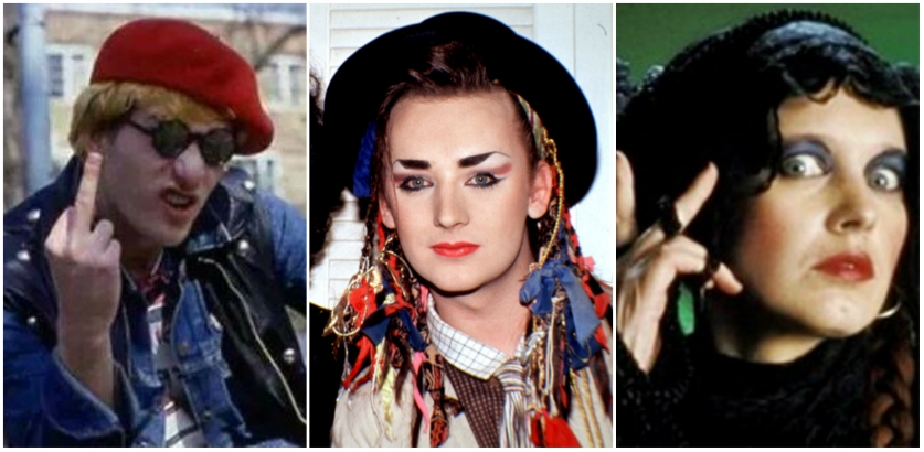 Boy George presents Captain Sensible and Lene Lovich in grossout animal rights film 'Meathead'