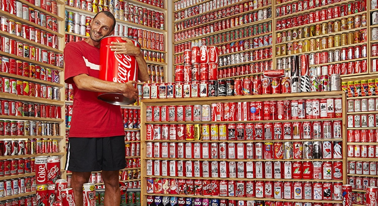 Meet the man with the world's largest collection of Coca-Cola cans