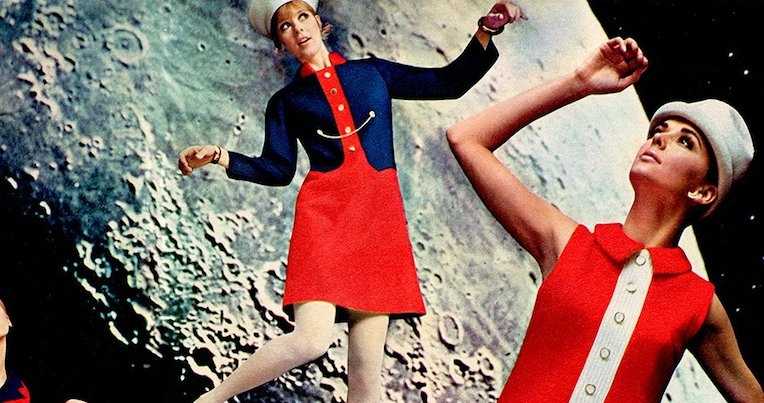 Amazing fashion knitwear sold as a tie-in to Stanley Kubrick's '2001: A Space Odyssey'