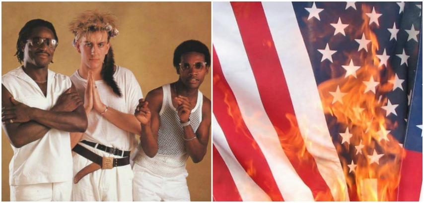 Fun Boy Three cover the Doors, burn the American flag on TV, 1983