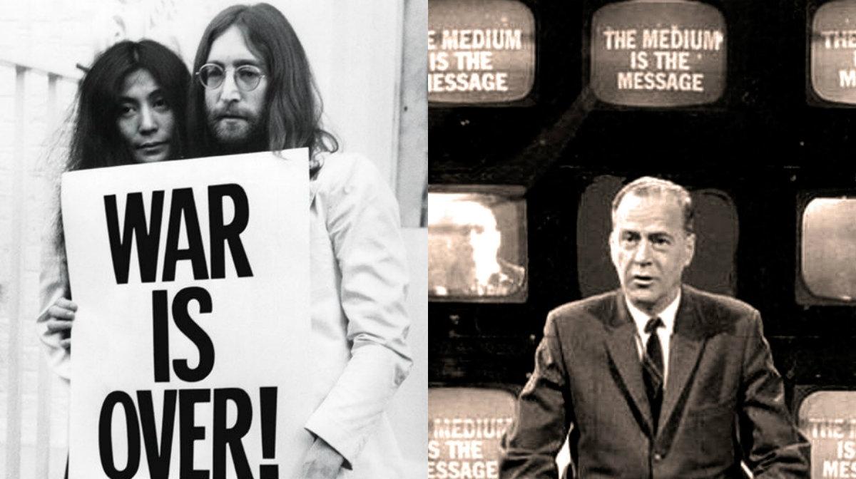 War is Over: When John Lennon and Yoko Ono met Marshall McLuhan
