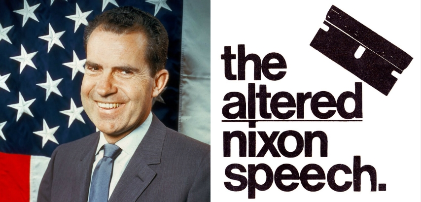 Hear a full confession from Tricky Dick on the novelty single 'The Altered Nixon Speech,' 1973