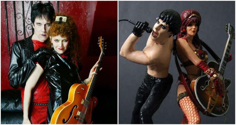 Custom made action figures of Robert Smith, The Cramps, Eraserhead & more!