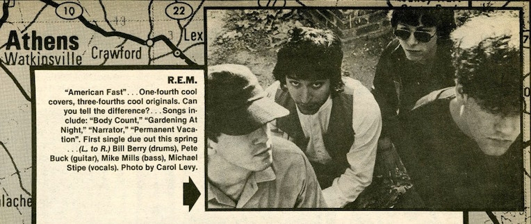 A very young R.E.M. gets noticed by the NY Rocker, March 1981