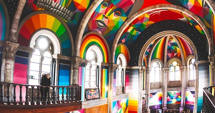 Holy rollers: Church transformed into psychedelic skate park