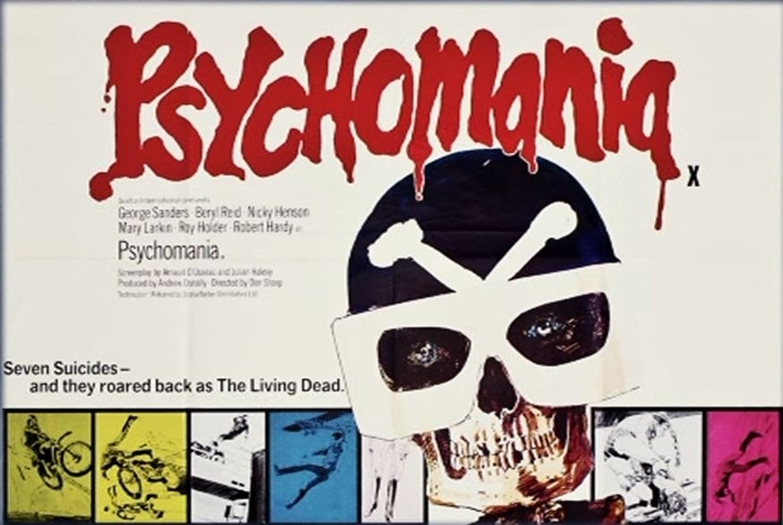 'Psychomania': Black leather bikers in B-movie zombie occult insanity!