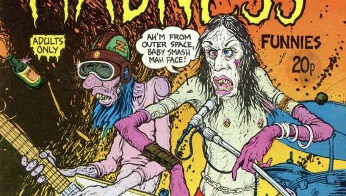 The subversive world of Rock 'N' Roll Madness Funnies: Underground comic satirizes 70s rock