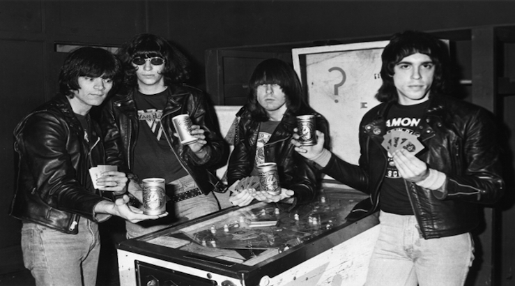 Vintage Photos of Rockers, Punks, and Pop Stars Playing Pinball
