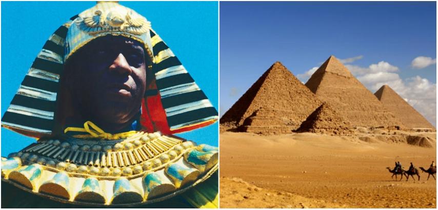 Sun Ra invokes the Egyptian sun god at the Pyramids