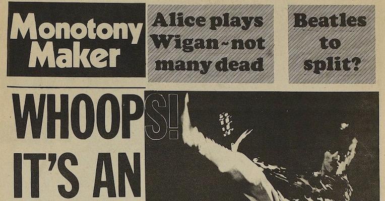 'Monotony Maker': International Times parodies Melody Maker, 1973